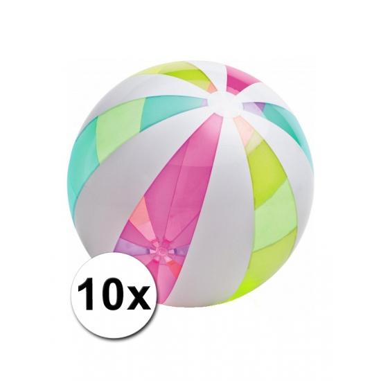 10 grote strandballen opblaasbaar 107cm
