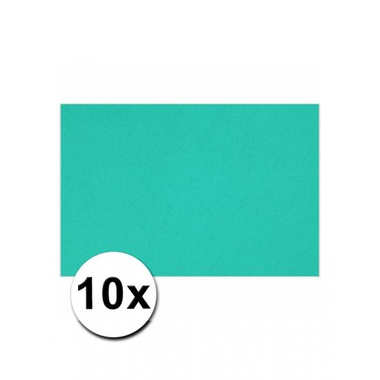 10 oceaan blauwe kartonnen vellen A4 (bron: Funenfeestwinkel)