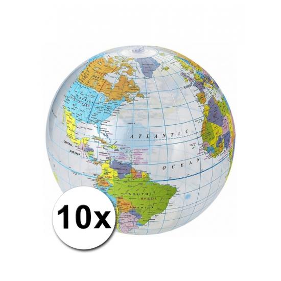 10 opblaasbare wereldbol strandballen
