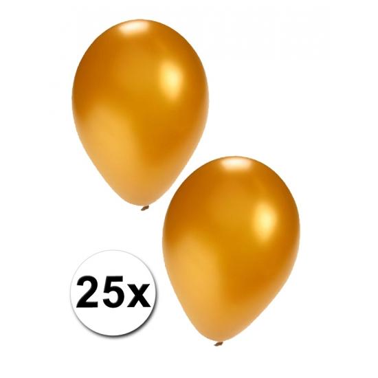 25 stuks gouden ballonnen (bron: Funenfeestwinkel)