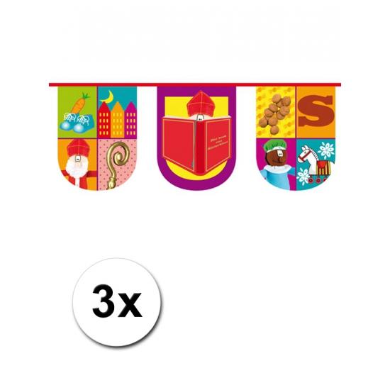 3x Halfronde vlaggenlijn trendy Sinterklaas thumbnail