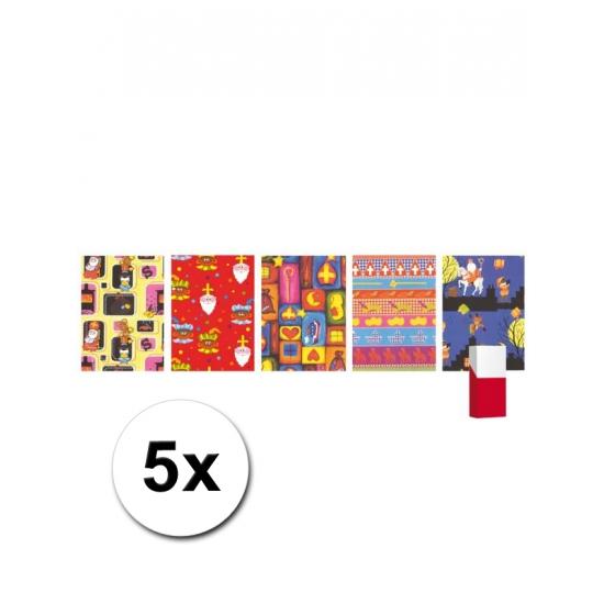 5 rollen Sinterklaas inpak papier thumbnail