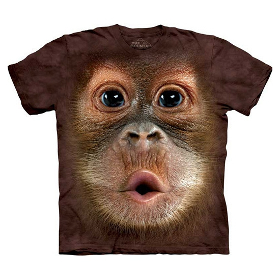 All-over print kids t-shirt Orang Oetang (bron: Funenfeestwinkel)
