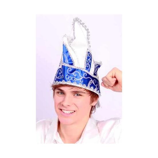 Blauw met witte prinsenhoed