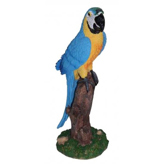 Blauwe decoratie papegaai 32 cm (bron: Funenfeestwinkel)