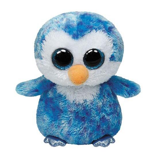 Blauwe Ty Beanie pinguin knuffels 15 cm
