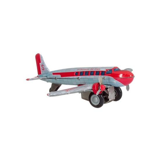 Blikken speelgoed vliegtuigje 25 cm