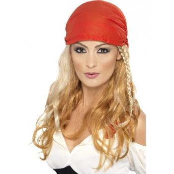 Blonde piraten pruik voor dames (bron: Funenfeestwinkel)