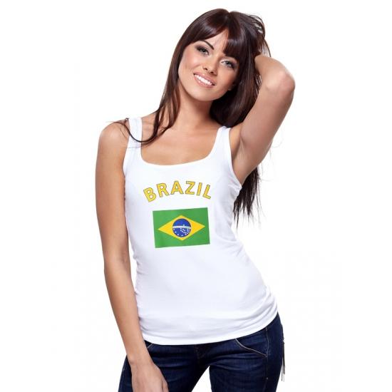Brasiliaanse vlag tanktop voor dames (bron: Funenfeestwinkel)
