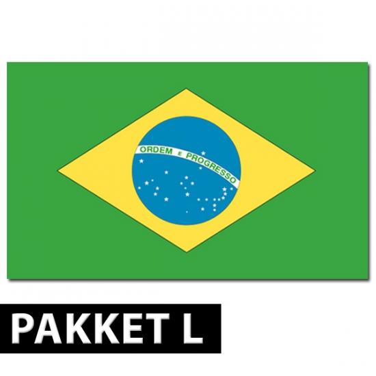 Brazilie versiering pakket groot (bron: Funenfeestwinkel)