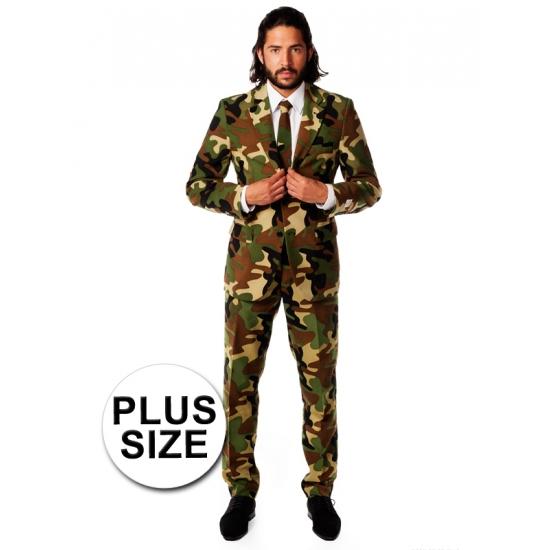 Camouflage pak grote maat (bron: Funenfeestwinkel)
