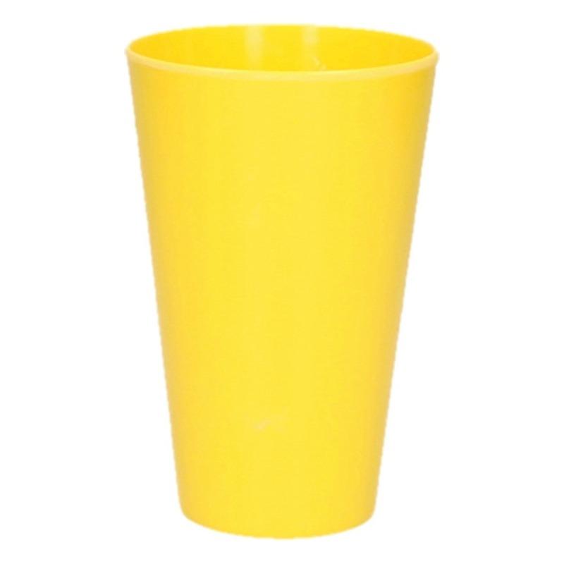 Camping beker geel 13 cm