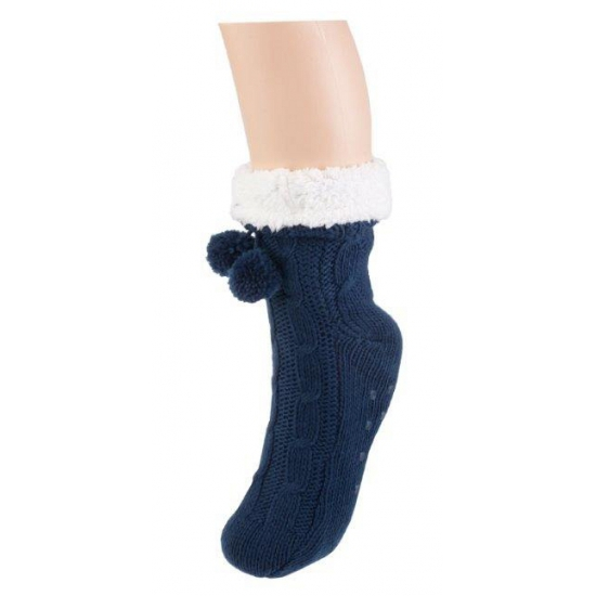 Dames sokken voor in huis navy