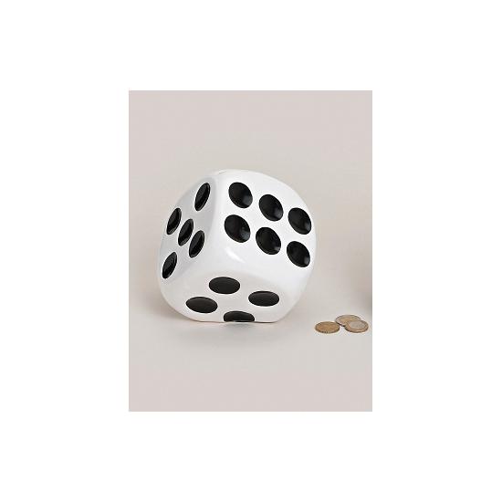 Dobbelstenen spaarpotten wit (bron: Funenfeestwinkel)