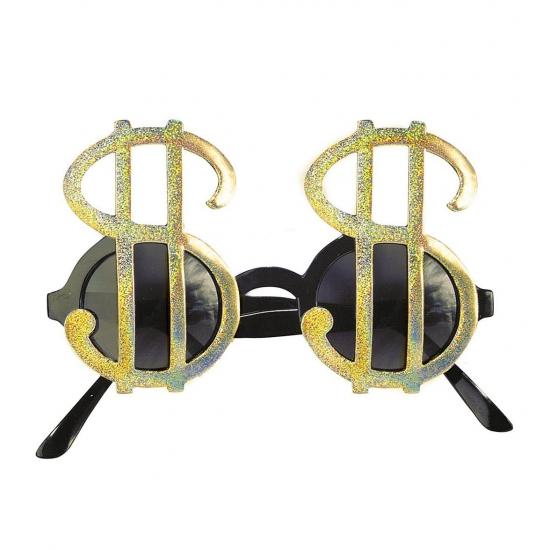 Dollar brillen goud (bron: Funenfeestwinkel)
