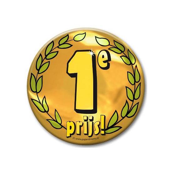 Eerste prijs button XXL (bron: Funenfeestwinkel)