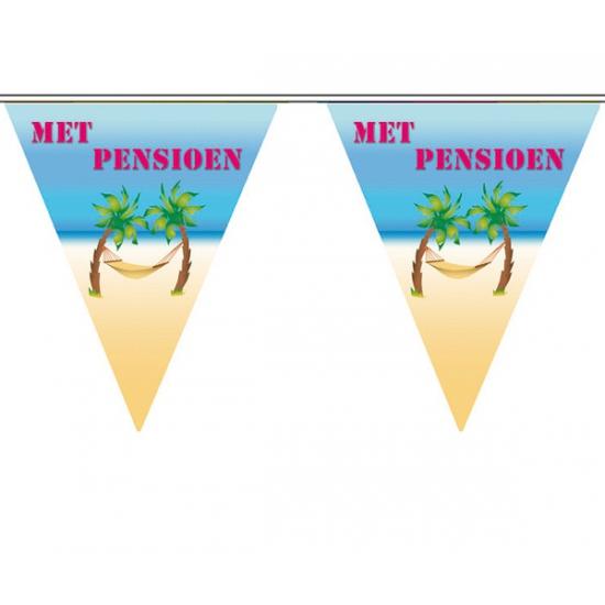 Feest vlaggenlijn pensioen