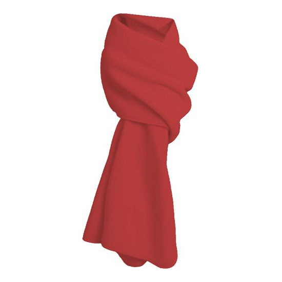 Fleece winter sjaal rood (bron: Funenfeestwinkel)
