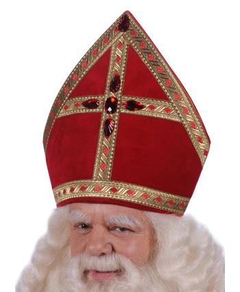 Fluwelen Sinterklaas mijter 60 cm thumbnail