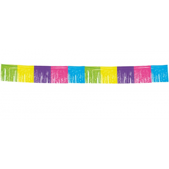 Gekleurde franje slinger 10 meter (bron: Funenfeestwinkel)