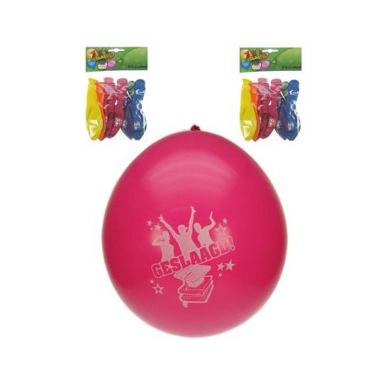 Gekleurde geslaagd ballonnen 8x