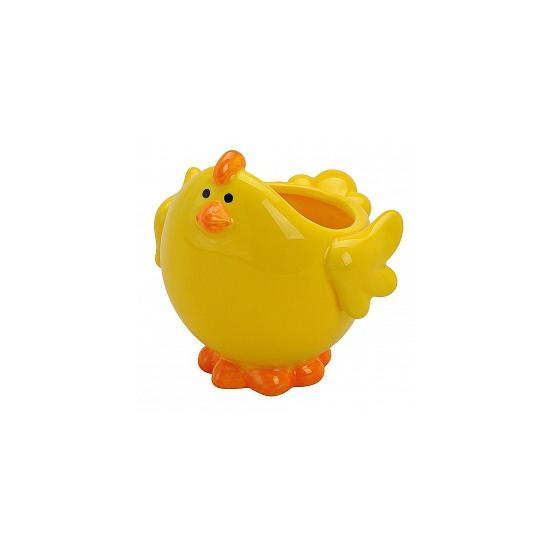 Gele kip schaal voor paaseieren (bron: Funenfeestwinkel)