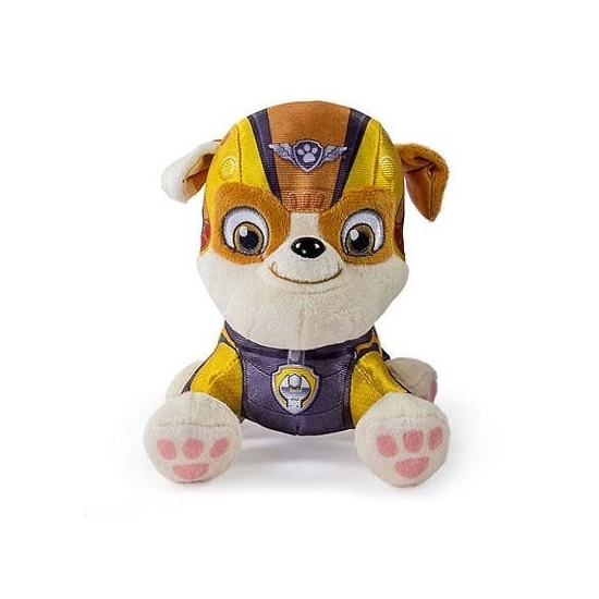 Gele Paw Patrol Engelse Bulldog knuffel 15 cm thumbnail