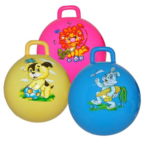 Gele skippyballen met hond