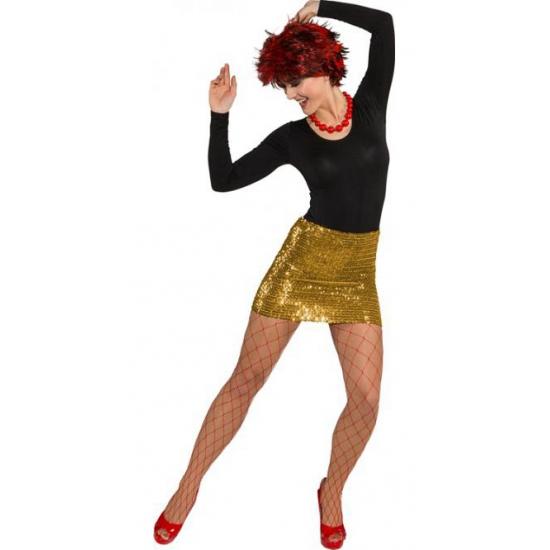 Gouden rokjes voor dames