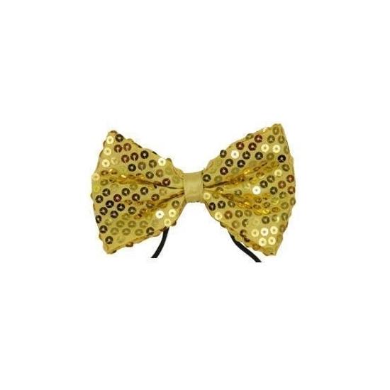 Gouden vlinderstrikjes met pailletten