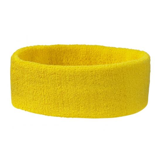 Goudgele hoofd zweetband (bron: Funenfeestwinkel)