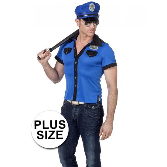 Grote maat politie overhemd heren (bron: Funenfeestwinkel)