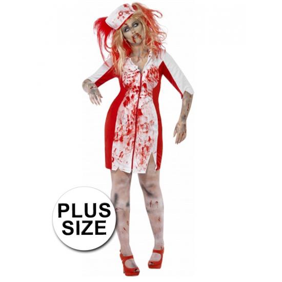 Grote maten Halloween Zombie zuster jurk dames (bron: Funenfeestwinkel)