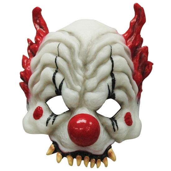 Half gezichtsmasker horror clown (bron: Funenfeestwinkel)