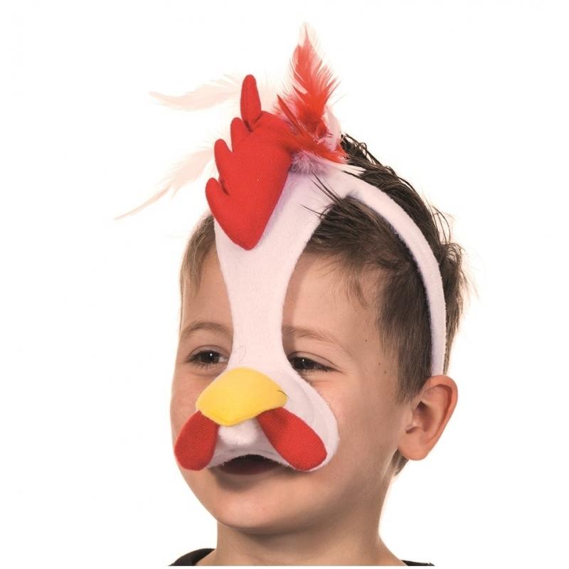 Hanen masker met geluid (bron: Funenfeestwinkel)