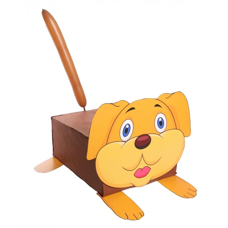 Hond suprise knutselen DIY pakket (bron: Funenfeestwinkel)