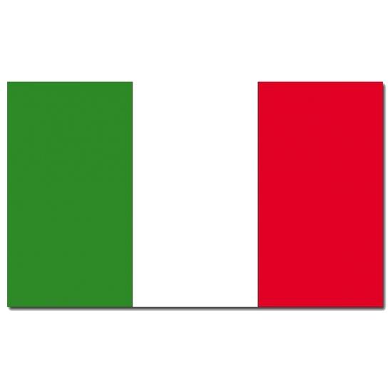 Italiaanse vlag 90 x 150 cm (bron: Funenfeestwinkel)