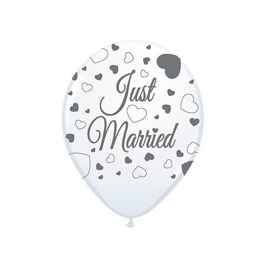 Just Married versiering balonnen 8 st