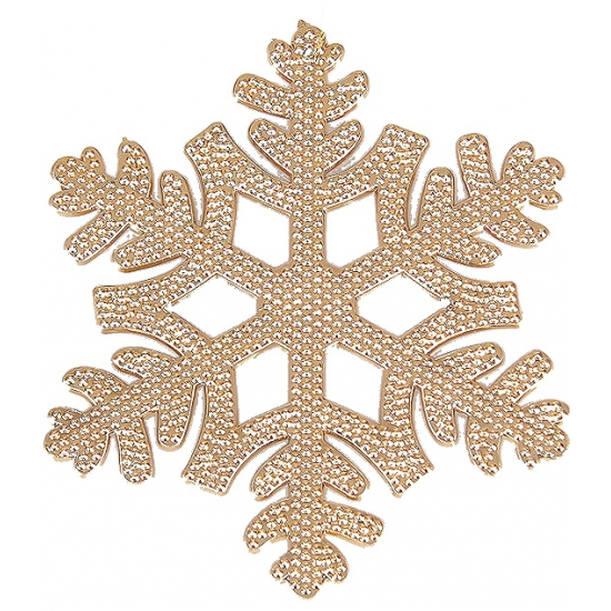 Kerstboom hanger sneeuwvlok koper (bron: Funenfeestwinkel)