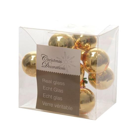 Kerststukje gouden balletjes 10 stuks (bron: Funenfeestwinkel)