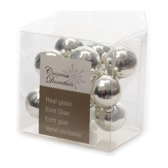 Kerststukje zilveren balletjes 10 stuks (bron: Funenfeestwinkel)