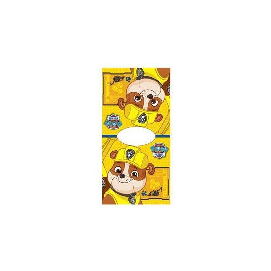 Kinder badponcho Paw Patrol Rubble 50x100 thumbnail