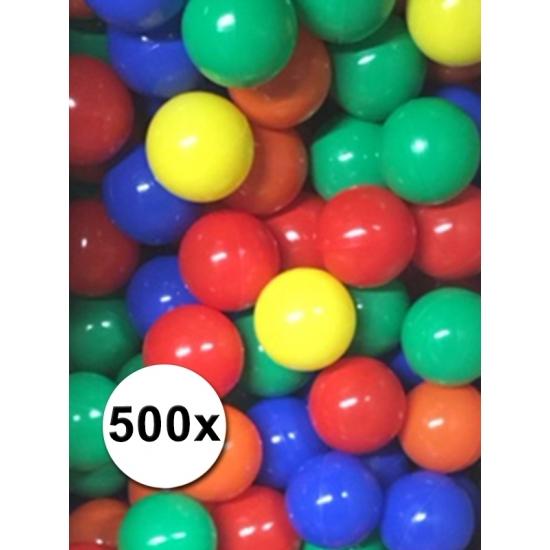 Kleurige ballenbak ballen 500 stuks