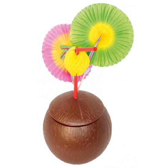 Kokosnoot beker met deksel (bron: Funenfeestwinkel)