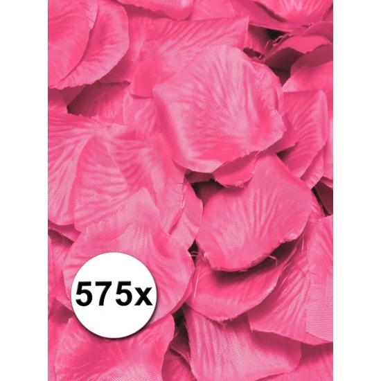 Kunst rozenblaadjes roze 575 stuks