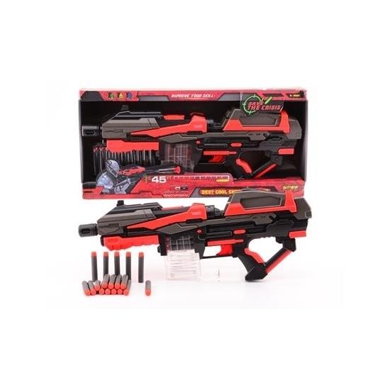 Large speelgoed pistool met foam kogels 54 cm