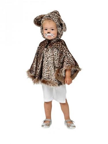 Luipaard poncho voor peuters (bron: Funenfeestwinkel)
