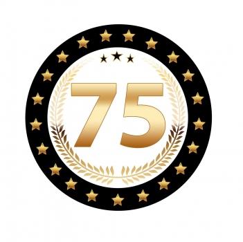 Luxe 75 jarige bierviltjes