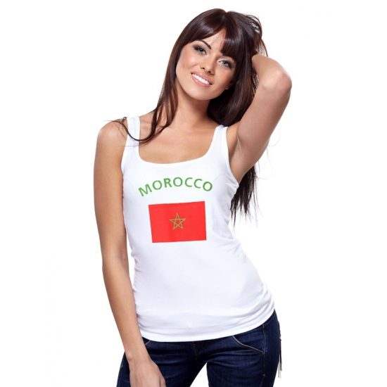 Marokkaanse vlag tanktop / t-shirt voor dames