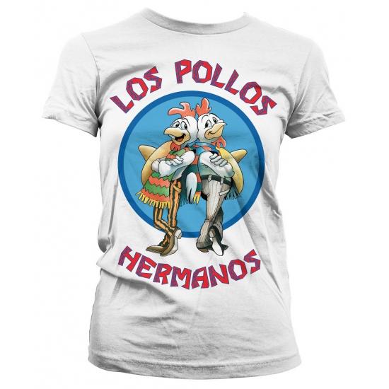 Merchandise shirt Los Pollos Hermanos wit (bron: Funenfeestwinkel)